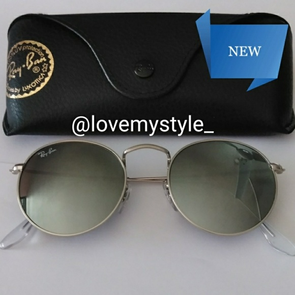 64d4d05bcf46 Ray-Ban Accessories | Sale 120 Authentic Ray Ban Round Silver | Poshmark
